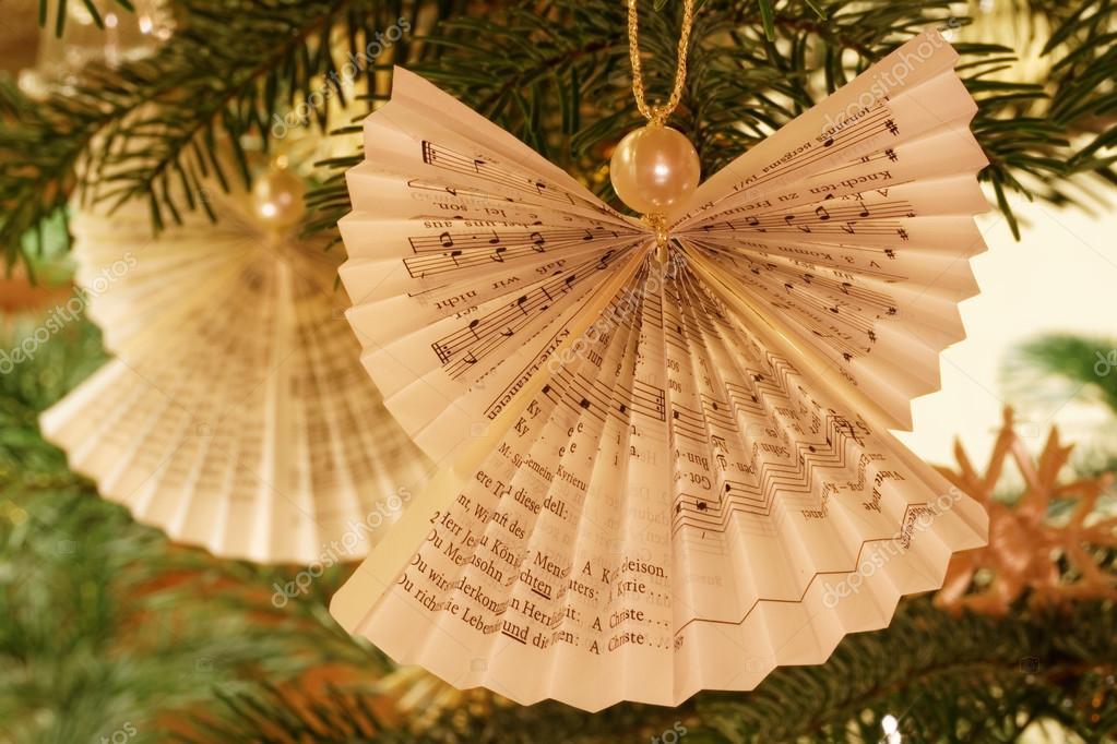 Kerstboom Papier Angel Decoratie Stockfoto Bernhardlux 121220464