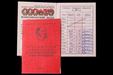 Komsomol membership card