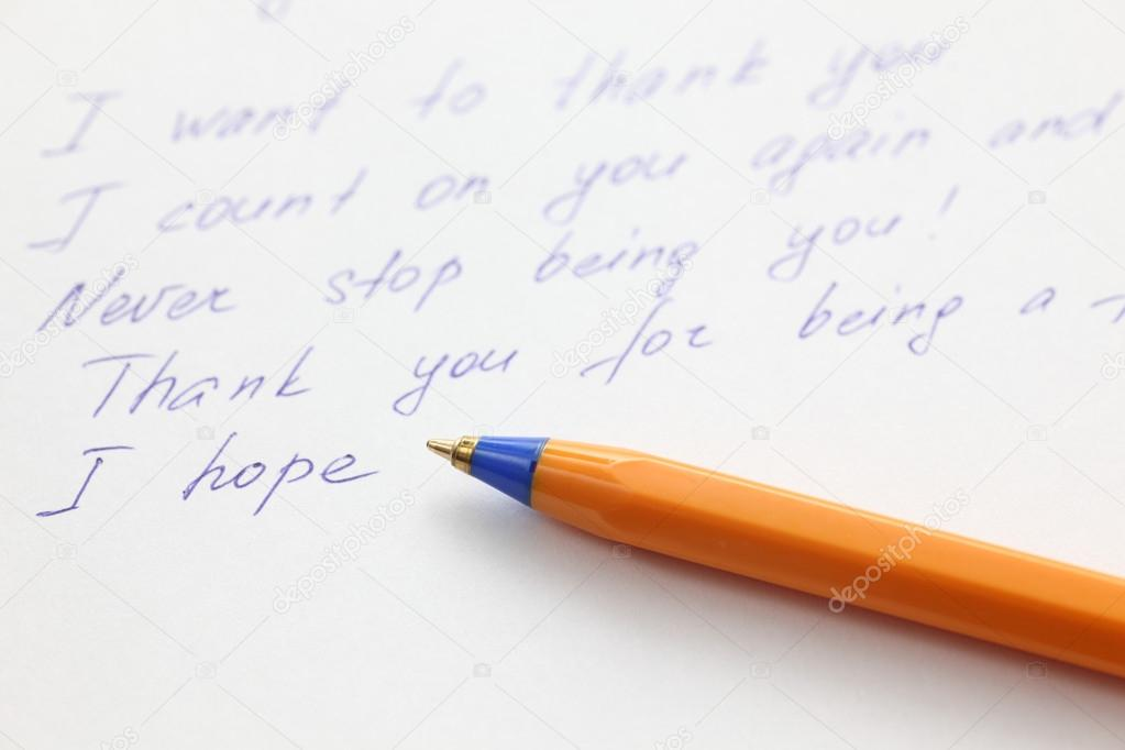 Schreiben Brief An Einen Freund Stockfoto Rosinka79 60930495