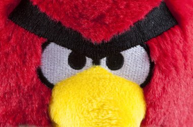 Red Angry Birds soft toy