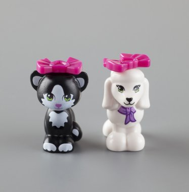 LEGO Friends Cat and Dog minifigures