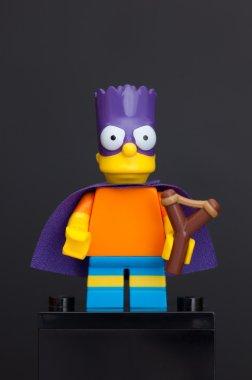 Lego Bartman minifigure (Bart Simpson)