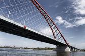 Červený most v Novosibirsk, Rusko