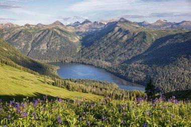 Mountain lake in East Kazakhstan