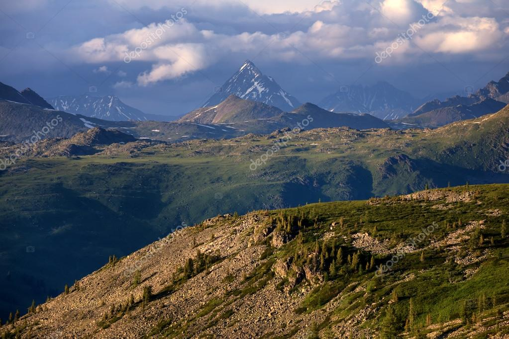 Peak Urusvati in Altai mountains