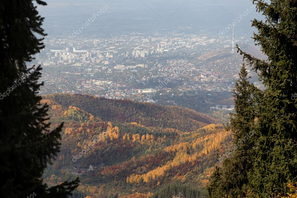 View of the city of Almaty