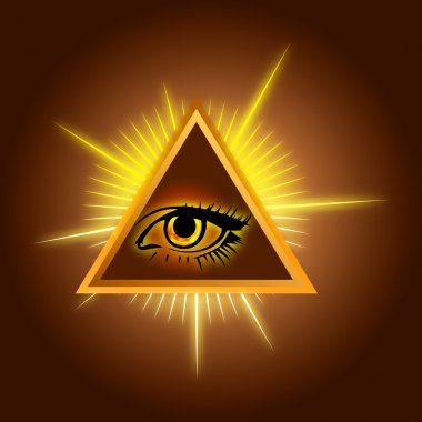 All-seeing eye - Stock Illustration