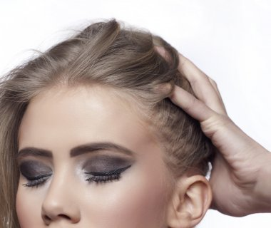 Young woman with make up