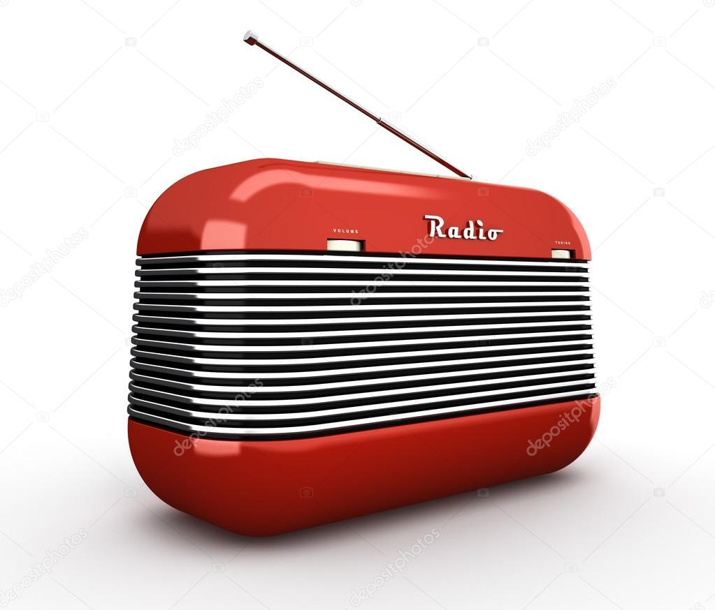 r cepteur de radio style r tro vintage rouge ancien isol sur bac blanc photographie hemul75. Black Bedroom Furniture Sets. Home Design Ideas
