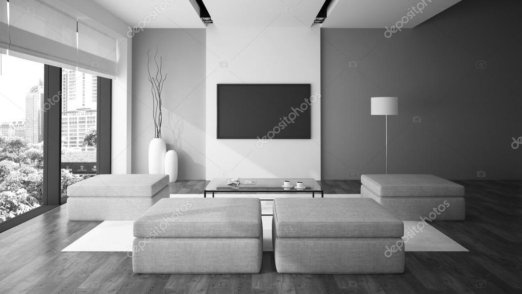 Moderne interieur in minimalisme stijl zwart witte kleur d ren