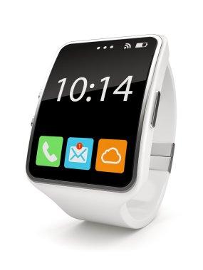 White Smart watch on white background