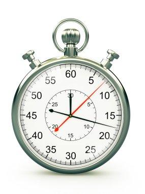 Old style chronometer on white background