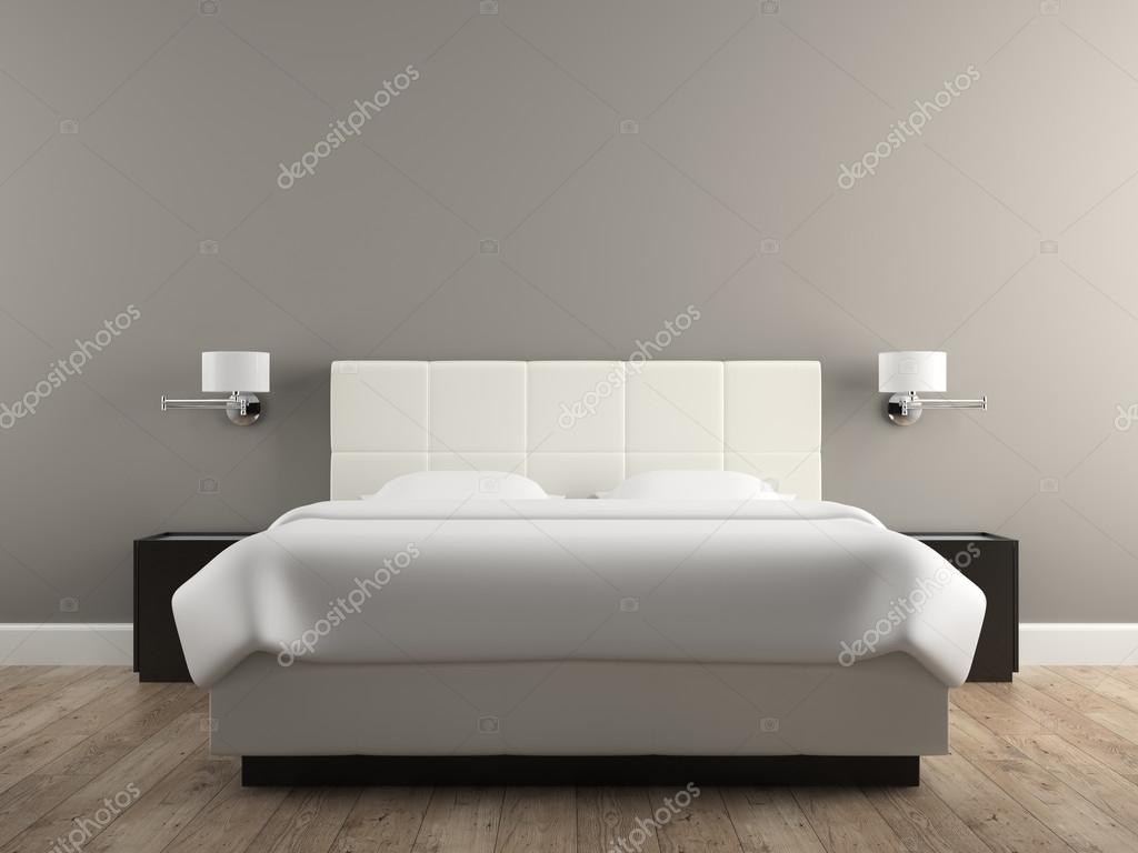 Interno del rendering 3d design moderno camera da letto — Foto Stock ...