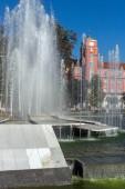 Radnice a kašna v centru města Pleven
