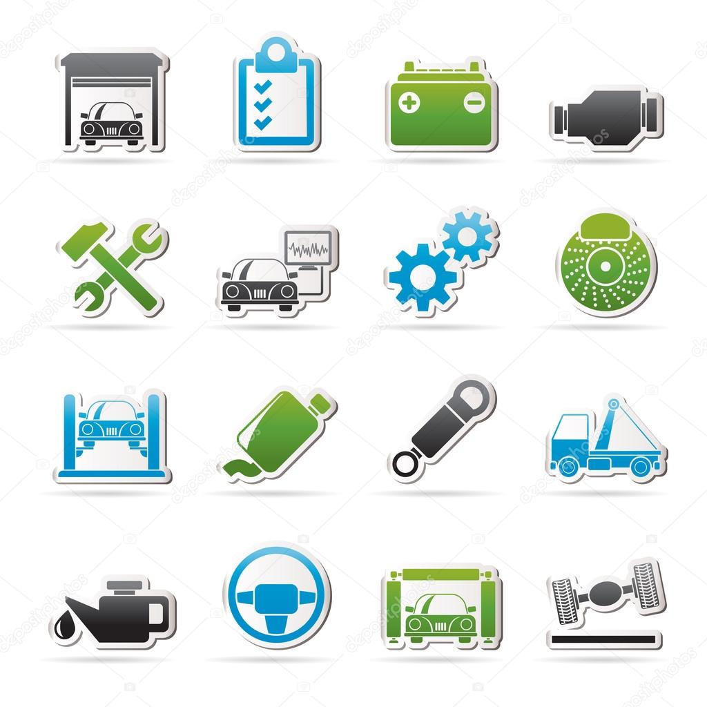 Car Service Maintenance Icons Stock Vector C Stoyanh 110104256