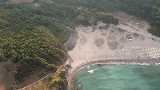 Aerial view of Butamyata beach near Sinemorets village, Burgas Region, Bulgaria