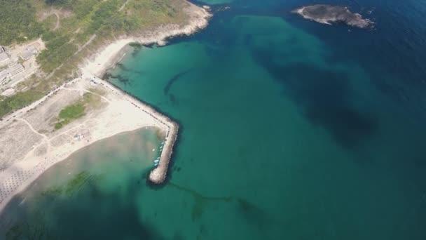 Amazing Aerial view of Arkutino beach, Burgas Region, Bulgaria