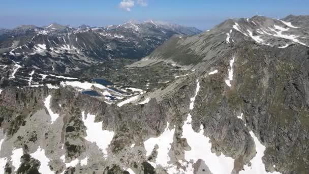 Amazing Aerial view of Dzhangal peak, Pirin Mountain, Bulgaria