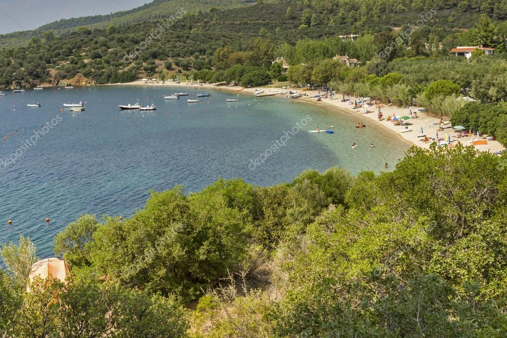 Ampelos Beach Sithonia agia kiriaki beach, chalkidiki, sithonia, central macedonia — stock