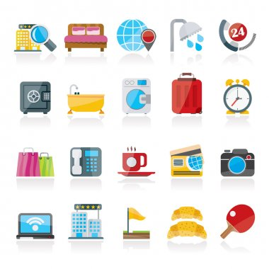 Hotel and motel services icons 1
