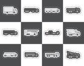 Fotografie verschiedene Arten von LKW und LKW-Symbole