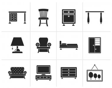 Black Home Equipment and Furniture icons