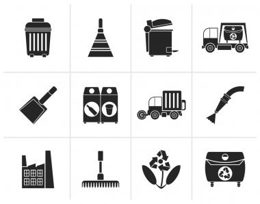 Black Cleaning Industry and environment Icons