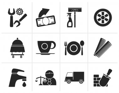 Black Services and business icons