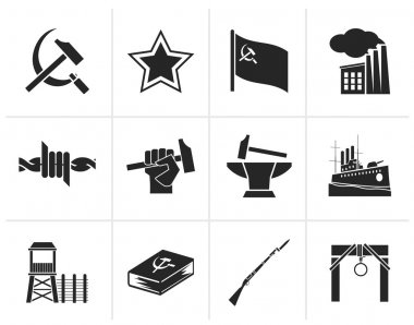 Black Communism, socialism and revolution icons