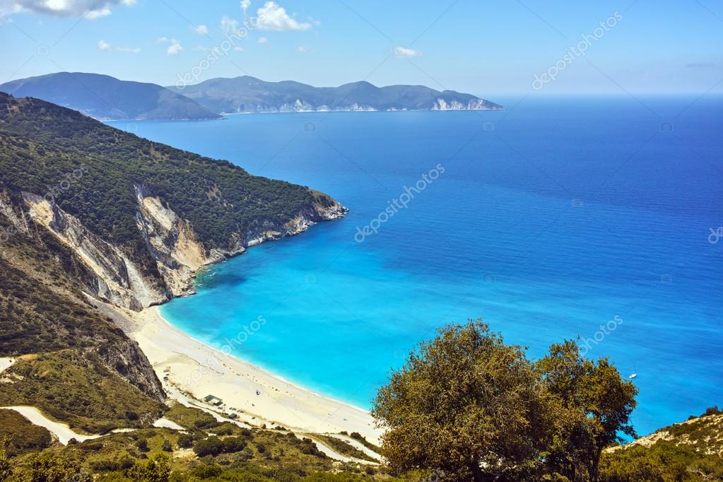 пляж миртос кефалония фото
