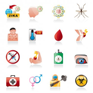Zika Virus pandemic icons