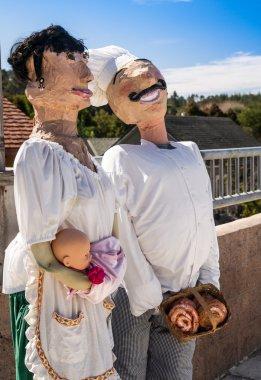Italian Chef Famliy Scarecrows