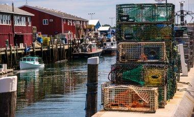 Dockside in Portland, Maine.