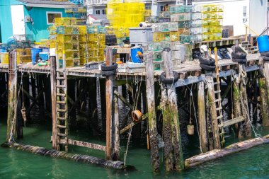 Piles of Lobster Traps