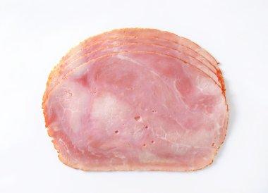 Baked ham slices
