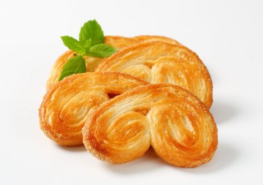 Palmiers - puff pastry cookies