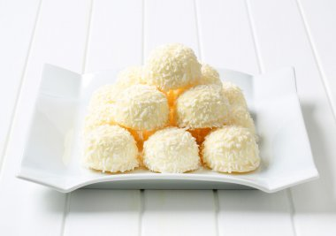 White Chocolate and Coconut Truffles