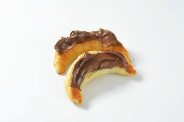 croissants with chocolate butter