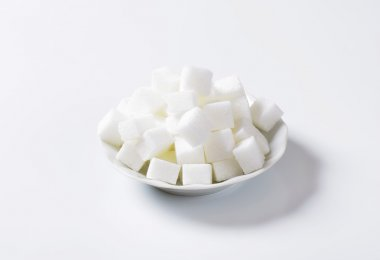White sugar cubes