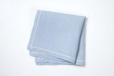 blue cloth napkin