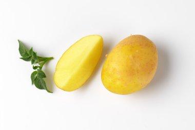raw unpeeled potatoes