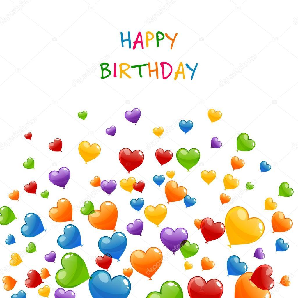Vector Happy Birthday Greeting Card Stock Vector Ramonakaulitzki