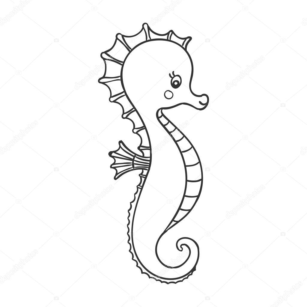 Vector Cute Hand Drawn Sea Horse Stock Vector C Ramonakaulitzki 103470374
