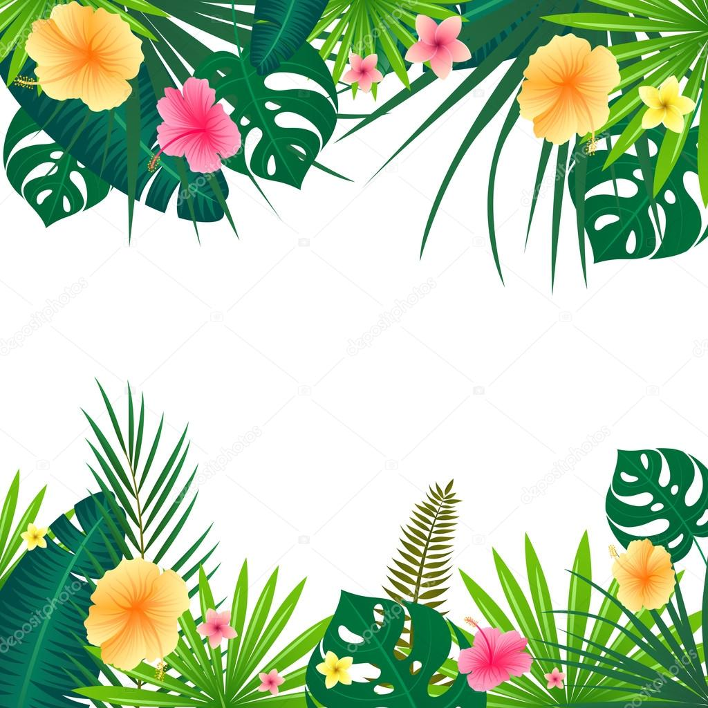 vector tropical background � stock vector