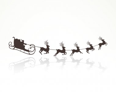 Vector Santa Claus Driving in a Sledge
