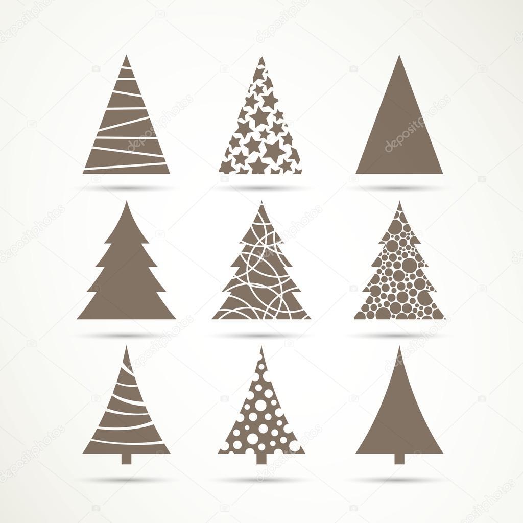 Vector Christmas Tree Icons