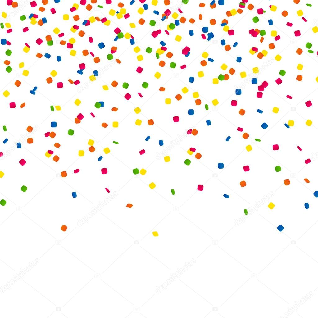 vector party background with confetti stock vector