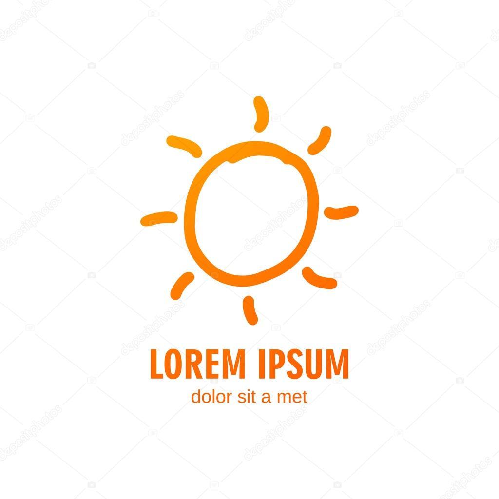 Plantilla de diseño de logotipo Sol vector verano — Vector de stock ...