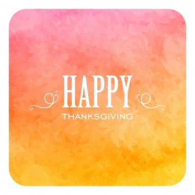 Vector Illustration of an Colorful Happy Thanksgiving Design with Decorative Elements clip art vector