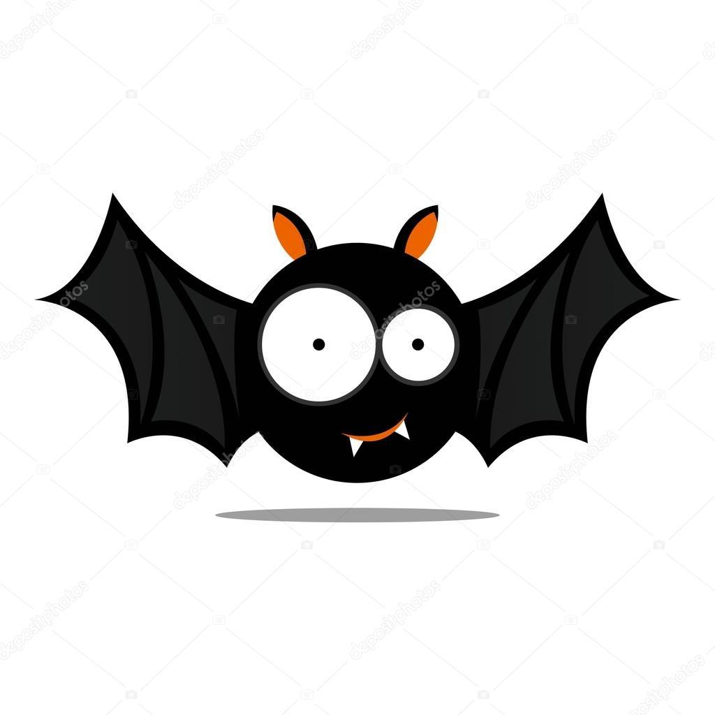 vector cute halloween chauve souris image vectorielle. Black Bedroom Furniture Sets. Home Design Ideas